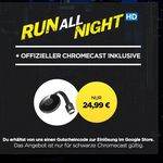 Google Chromecast 2  + HD Stream: Run All Night für 24,99€