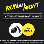 Google Chromecast 2  + HD Stream: Run All Night für 22,99€