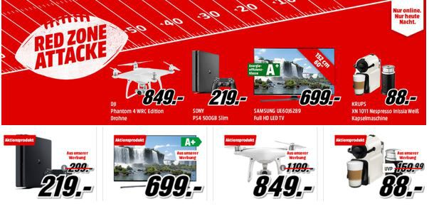 Media Markt Superbowl Aktion: viele günstige Artikel   u.a. KRUPS XN1011 Nespresso Kapselmaschine + Milchschäumer für 88€