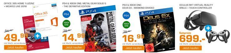 Metal Gear Solid 5 o. Deus Ex   Mankind Divided   PS4 u. Xbox One für 14,99 € und mehr günstige Angebote im Saturn Weekend Sale