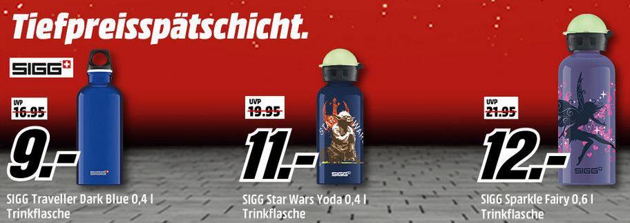 Media Markt SIGG Tiefpreisspätschicht   günstige Kult Trinkflaschen