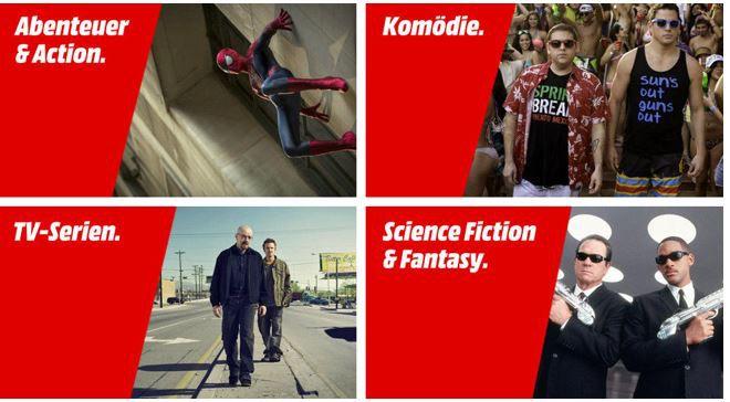 Sony Pictures Home Entertainment Aktion: Für 100€ DVDs o. Blu rays kaufen und einen 50€ Media Markt Gutschein bekommen