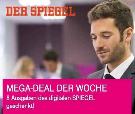 Nur für Telekom Kunden: 8 Ausgaben Spiegel digital gratis   Kündigung notwendig