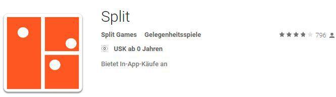 Split (Android) gratis   nur für kurze Zeit