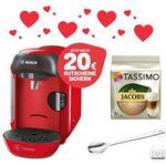 Valentinstags-Special: TASSIMO VIVY Kapselmaschine + 20 EUR Gutscheine + WMF Löffel +T DISCs für 34,99€