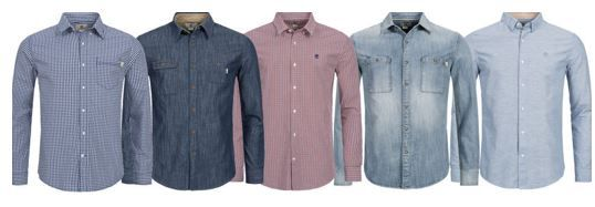 Timber land Hemden Timberland Mumford Rattle   langarm Freizeit Herren Hemden für je 32,99€