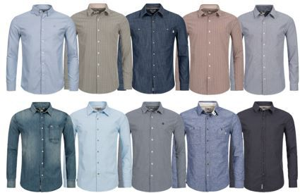 Timberland Hemden Timberland Mumford Rattle   langarm Freizeit Herren Hemden für je 32,99€