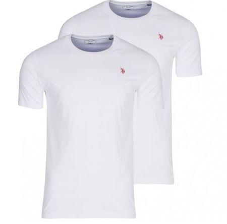 2er Pack U.S. POLO ASSN. V Neck u. Rundhals Herren T Shirts für 9,99€