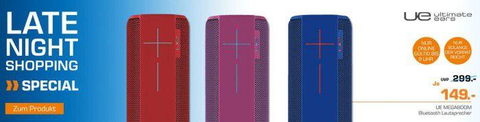 Ultimate Ears UE Megaboom   Bluetooth Lautsprecher für 149€ (statt 170€)