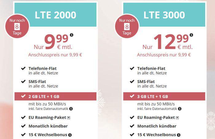 PremiumSIM Allnet Tarife ab 9,99€ mtl. (3 4GB LTE, EU Flat   monatlich kündbar)