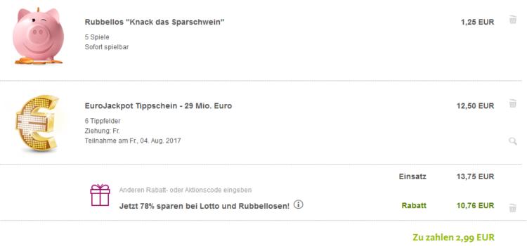 Lottoland: 6 Tippfelder Eurojackpot (29 Mio. Jackpot!) + 5 Rubellose für 2,99€ für alle Neukunden
