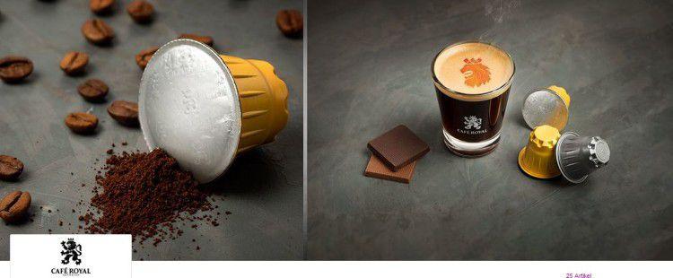 Café Royal   Tee  und Kaffeekapseln oder Pads bei vente privee   z.B. 100 Espresso Forte Kapseln ab 16€