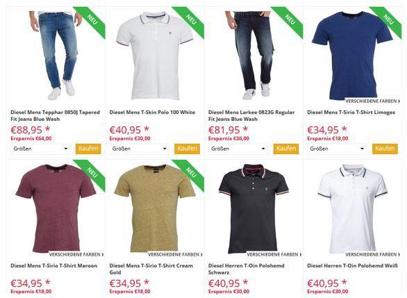 mandmdirect.de: DIESEL Sale mit bis 65% Rabatt   günstige Jeans, Shirts & Co.