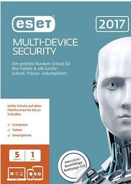 ESET MultiDevice Security 2017   Antiviren Schutz für 5 Geräte statt 32€ für 19,99€