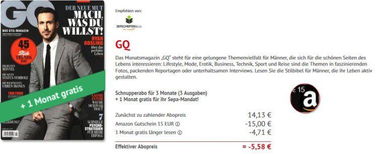 gq e1489164703768 GQ Miniabo mit 4 Ausgaben statt 18,84€ mit 0,87€ Gewinn