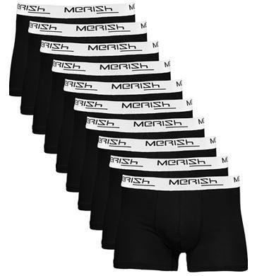 Merish 215b   10er Pack Herren Retro Boxershorts für 19,90€