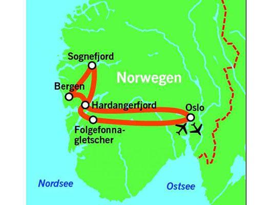 8 Tage Norwegen Rundreise inkl. Frühstück, Flug & allen Transfers ab 699€ p.P.