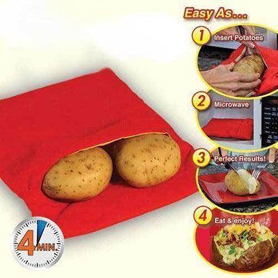 Potato Express   Mit der Mikrowelle Kartoffeln kochen für 1,14€