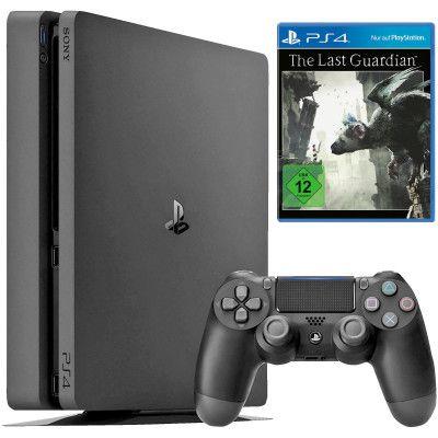 Sony PlayStation 4 Slim (1TB) + The Last Guardian + UEFA Euro 2016 für 249€ (statt 308€)