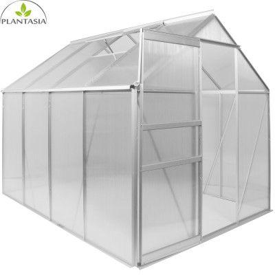 Plantasia 7,6 m³ Alu Gewächshaus (4,75m²) mit Fenster für 152,99€ (statt 200€)
