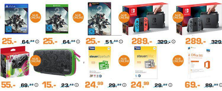 Entertainment Weekend Deals bei Saturn: z.B. Nintendo Switch für 289€ (statt 305€)