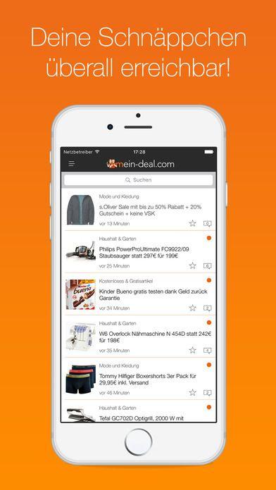 Schnäppchen App   Mein Deal.com für dein Handy, Tablet & Apple Watch