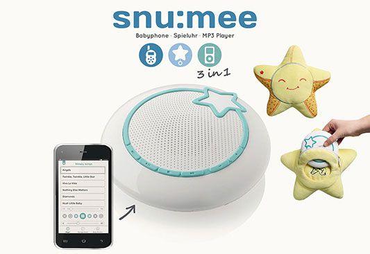 Baby Stars snu:mee Babyphone, Spieluhr, Mp3 Player & Kuschelsleeve für 14,95€