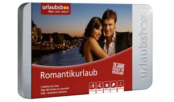 Ideal zu Weihnachten: Urlaubsbox Romantik 2 ÜN für 2 Personen inkl. Frühstück für 199,90€