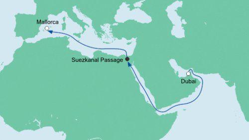 verlaufmmallorcadubai 12 ÜN auf der AIDAbella von Dubai nach Mallorca im Mai inkl. Flug ab 999€