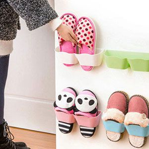 Wandhalter für Schuhe in versch. Farben für je 1,25€