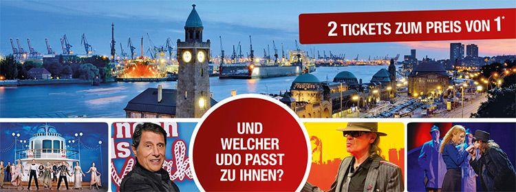 2 Musical Tickets in Hamburg zum Preis von Einem   Ich war noch niemals in New York oder Hinterm Horizont