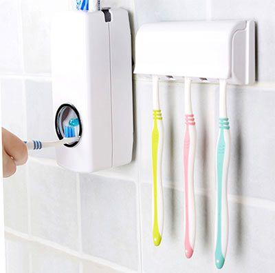 Automatischer Zahnpastaspender inkl. Halterung für 5 Zahnbürsten für 3,81€