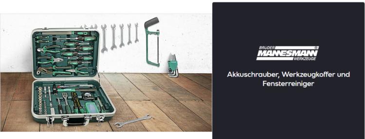 Mannesmann One Day Sale   z.B. Werkzeugkoffer mit 108 Teilen ab 99,90€ (statt 122€)