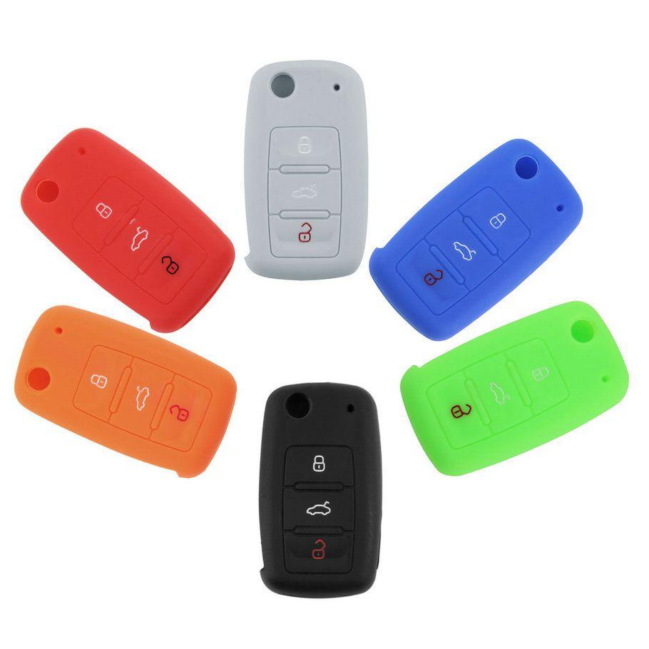 Silikonhülle für Funkschlüssel von Audi & VW / Seat / Skoda in versch. Farben ab 1,13€