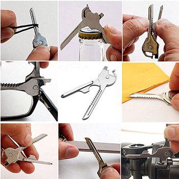 6 in 1 Multi Tool für den Schlüsselbund für 1,16€