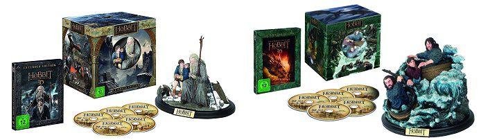 Der Hobbit   Sammlereditionen (Extended Edition + Figur) auf Blu Ray 3D + 2D für je 28,99€