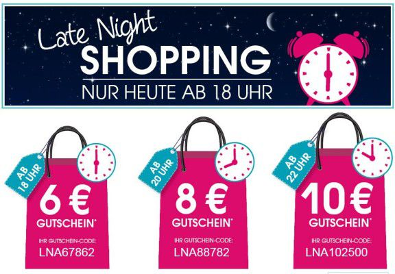 Baby Markt Late Night Shopping mit bis zu 10€ Rabatt ab 60€