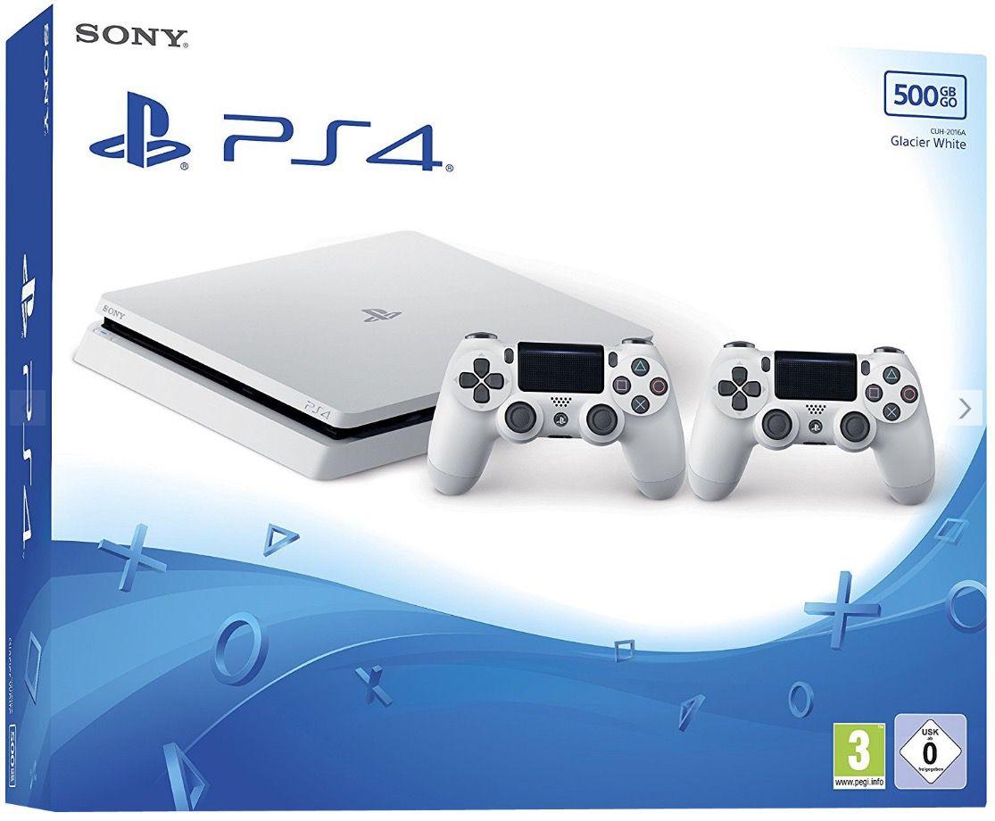 PlayStation 4 slim 500GB in Weiß + 2. Controller + Horizon: Zero Dawn für 274,16€ (statt 360€)