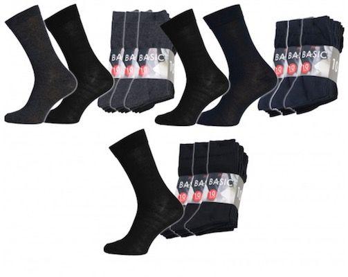 30er Pack Basic Socks Herren Business Socken für 9,99€ (statt 28€)