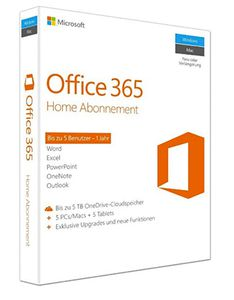 Microsoft Office 365 Home für 49,90€ (statt 58€)   1 Jahr für 5 PCs