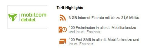 Vodafone Smart Light mit 3GB + 100 Min + 100 SMS für 9,99€ mtl.
