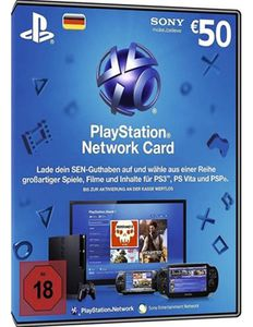 50€ Playstation Network Card für 43,99€
