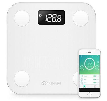 Yunmai Mini Smart Körperfettwaage mit App Steuerung für 23,80€ (statt 31€)   aus EU