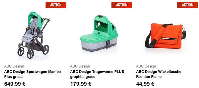 20% Rabatt auf ausgewählte ABC Design & MOON Artikel   z.B. Kombikinderwagen für 307€ (statt 359€)