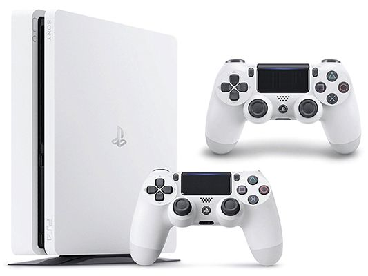 PlayStation 4 slim 500GB in Weiß + 2. Controller für 255,82€ (statt 304€)