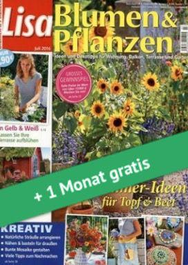 Vorbei! 3 Ausgaben Lisa Blumen & Pflanzen für 6,60€ + 105€ Verrechnungsscheck