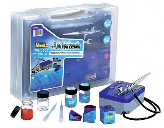 Revell 39199   Airbrush Basic Set mit Kompressor für 63,68€ (statt 75€)
