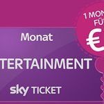 TOP! Sky Entertainment Ticket ab 1€ mtl. (statt 19,98€) – nur Neukunden