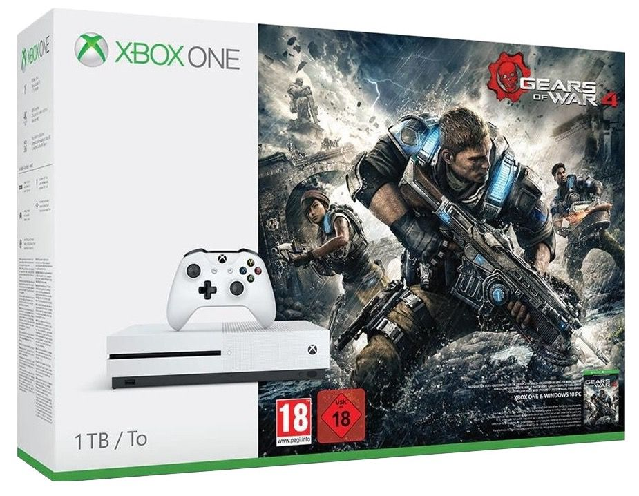 Xbox One S 1TB + Ghost Recon: Wildlands + For Honor + Gears of War 4 für 334,41€ (statt 418€)
