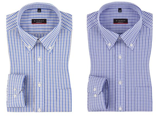Eterna Button Down Hemd mit Karo Muster für je 32,95€ (statt 47€)